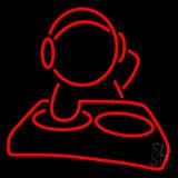 Dj Playing Neon Sign