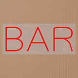 Bar Clear Backing Neon Sign