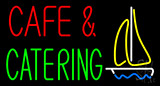 Cafe and Catering Logo Neon Sign