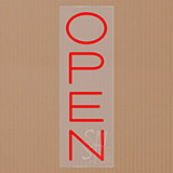 Open Clear Backing Neon Sign