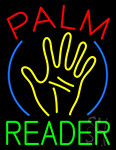 Palm Reader Hand Logo Neon Sign