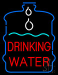 Drinking Water inside Bottle Neon Sign