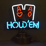 Hold Em Poker Neon Sculpture