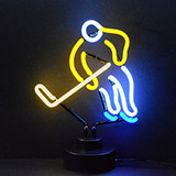 Hockey Neon Sculpture