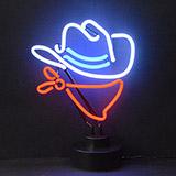 Cowboy Neon Sculpture