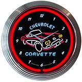 Corvette C1 15 Inch Neon Clock