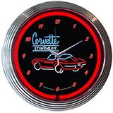 Corvette Sr 15 Inch Neon Clock