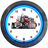 Big Rig Truck Neon Clock