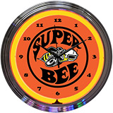 Super Bee 15 Inch Neon Clock