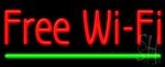 Free Wi Fi Neon Sign