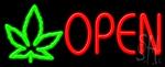 Open Leaf Logo Neon Sign