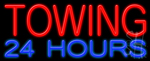 Towing 24 Hours Neon Sign