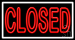 Closed Neon Sign