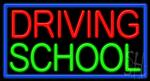 Driving School Neon Sign
