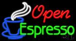 Espresso Open Neon Sign