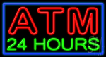 Atm 24 Hours Neon Sign