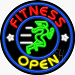 Fitness Open Neon Sign