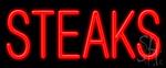 Steaks Neon Sign