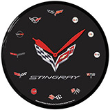 C7 Stingray 14 Inch Neon Clock