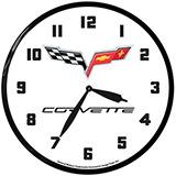Corvette C6 14 Inch Neon Clock