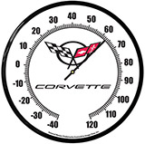 Thermometer Corvette C5 14 Inch Neon Clock