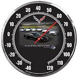 Thermometer Corvette C7 Heritage 14 Inch Neon Clock