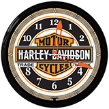 Herley Bar and Shield 20 Inch Neon Clock