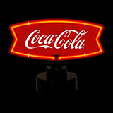 Coca Cola Red White Fishtail Coke Neon Sculpture
