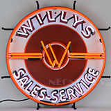 Jeep Willys Sales Service Neon Sign