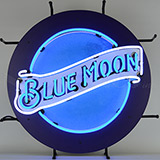 Millercoors - Blue Moon Beer Neon Sign