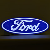 Ford Oval Shaped Backlit Sign