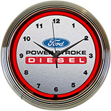 Ford Power Stroke Diesel Neon Clock