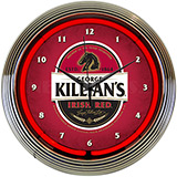 Killians Irish Red Beer Neon Clock
