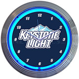 Keystone Light Beer Neon Clock