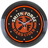 Smith And Forge Hard Cider Neon Clock