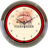 Volkswagen Beetle Neon Clock
