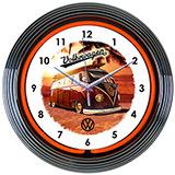 Volkswagen Bus Neon Clock