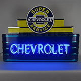 Art Deco Marquee Chevrolet Neon Sign In Steel Can