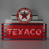Art Deco Marquee Texaco Motor Oil Neon Sign In Steel Can