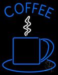 Blue Coffee Cup Neon Sign