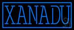 Blue Border Xanadu Neon Sign