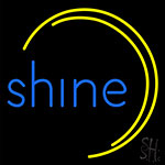 Blue Shine Neon Sign