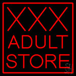 Red Border Xxx Adult Store LED Neon Sign