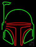 Boba Fett Helmet Star Wars Neon Sign