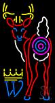 Deer Logo Neon Sign