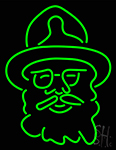 Green Man Logo Neon Sign
