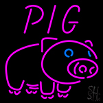 Pig Logo Neon Sign