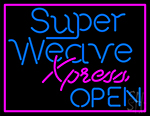 Pink Border Super Weave Xpress Open Neon Sign
