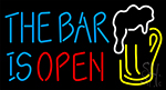 The Bar Is Open Beer Mug Neon Sign