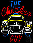 The Checker Guy Neon Sign